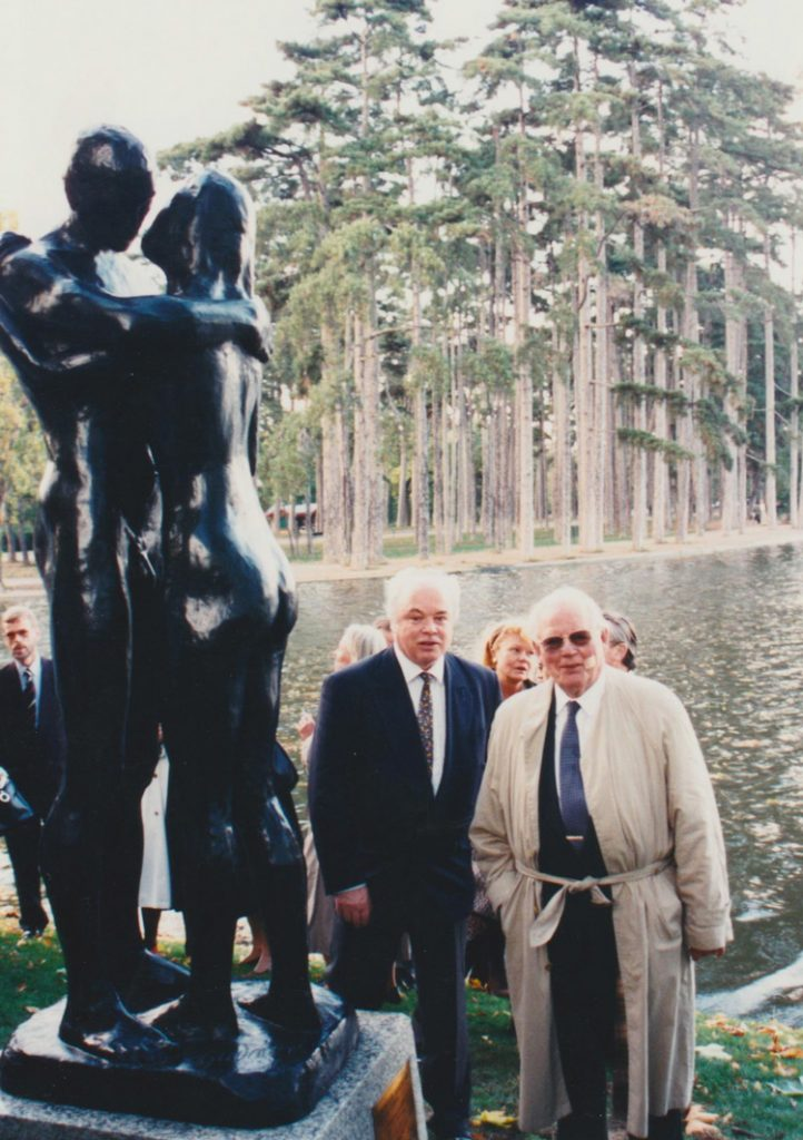 With Peter Wallenberg, Swedish industrialist and patron (1996)