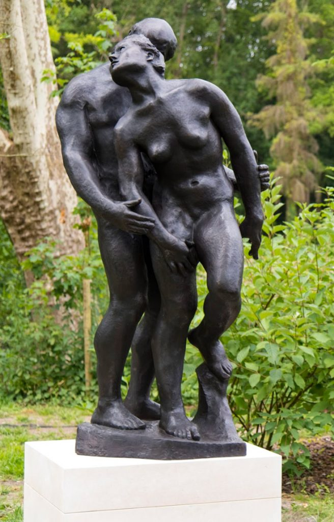 "The Fall, 1980 Bronze edition, nb. 1/8 Sand cast bronze by Pettersson Konstgjuteri Signed ""Gudmar"" H. 220 cm"