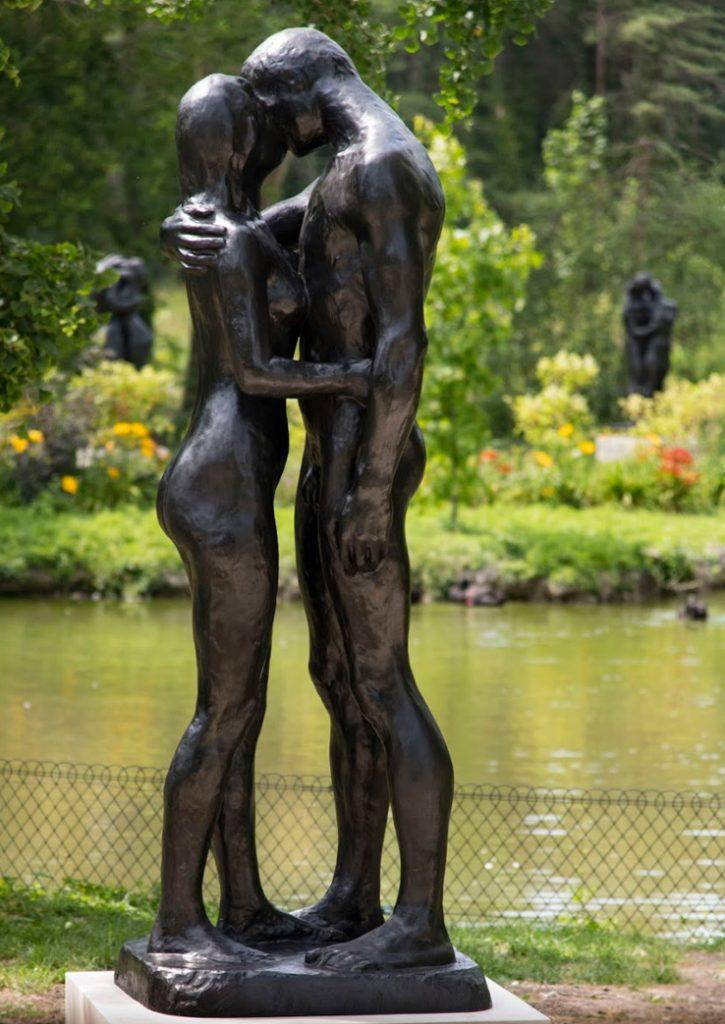 """Två Träd, 1966<br>Bronsupplaga, nr. 4/8<br>Förlorat vax gjutning, Fonderie de Coubertin<br>Signerad """"Gudmar""""<br>H. 254 cm"""