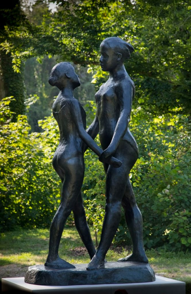 "The Two Sisters, 1973 Bronze edition, nb. 3/8 Lost wax bronze cast by Fonderie de Coubertin Signed ""Gudmar"" H. 260 cm"