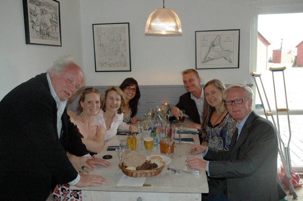 Invigningen av Falsterbo Open Air Museum (2008): med Susanne Olovson, Paula Hjelt, Ebba Wedén-Ankarcrona,MagnusOlovson, Erika Heineman, Rasmus Hammar