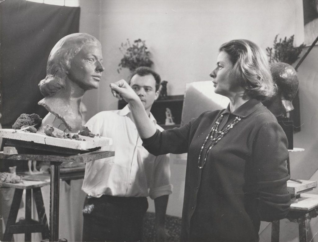 Photo d'atelier avec Ingrid Bergman (1964)