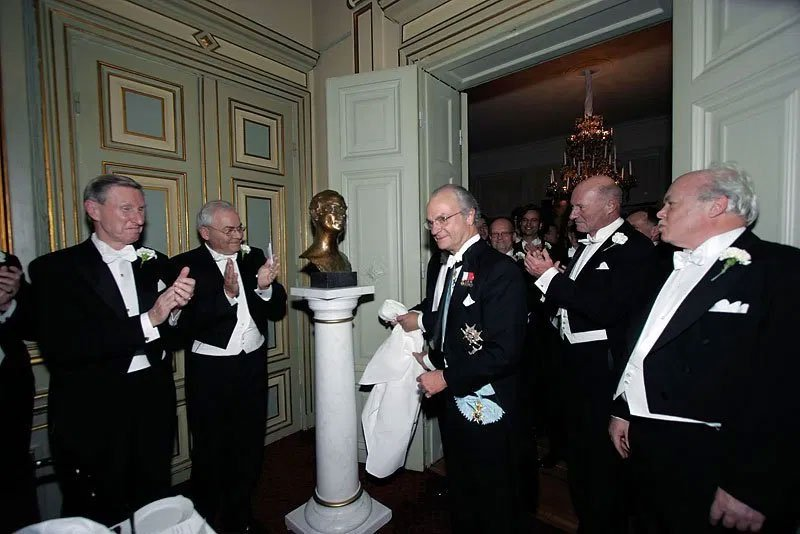 Inauguration of HRH The King of Sweden Carl XVI Gustaf's portrait (2004) at Kungliga Sällskapet, Stockholm